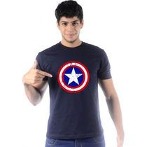 Camiseta Game Capitão América Style Camisa Capitão América
