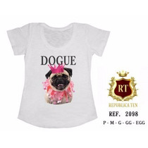 T-shirt Camiseta Cachorro Personalizada Feminina