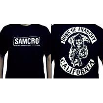 Camiseta Sons Of Anarchy - Camisa Seriado Samcro, Davidson