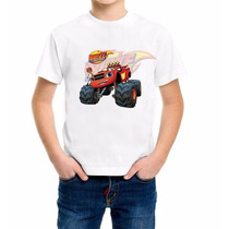 Blaze And Monster Machine Camiseta Infantil Personalizada