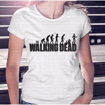 Camiseta Feminina Evolução The Walking Dead Listrado 2016
