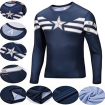 Camisa Capitão América - Marvel Comics Tam. L Pronta Entrega