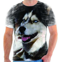 Camiseta De Husky Siberiano,cachorro,animal,estampada 1