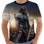 Camiseta Baby Look Game World Warcraft Lothar Wow Color