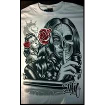 Camiseta Ogabel Manga Curta Estampa Em 3d Masculina
