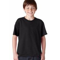 Camiseta Infantil Básica/lisa 100% Algodão Fio 30.1 Penteado