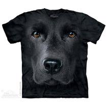 Camisa 3d Black Lab Face The Mountain Original