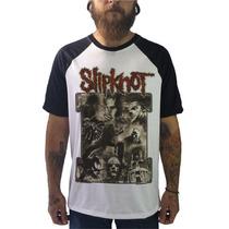 Raglan Slipknot Camisetas Blusas Moletom Regatas Bandas Rock
