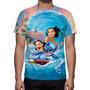 Camisa, Camiseta Disney Lilo E Stitch - Estampa Total