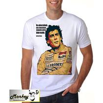Camiseta Camisa Ayrton Senna Presente