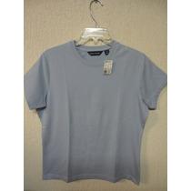 Camiseta Feminina Basica Sope Creek Tam M Nova Azul