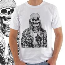 Camiseta Masculina Kurt Cobain Caveira