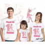 Lembrança De Aniversario Angelina Bailarina Camiseta Kit 3un