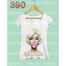 Blusa Tee Tshirt Marilyn Monroe Bola Chiclete Look Fashion