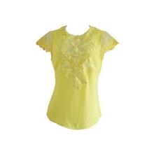Blusa Com Aplicação Renda Amarela Unique Chic Frete Grátis