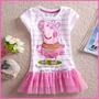 Blusa Peppa Pig Bailarina Porca Infantil Criança Rosa