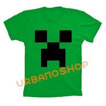 Camiseta Minecraft Jogo Verde 100% Algodão Cod 188