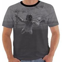 Camisa Camiseta Baby Look Nirvana Nevermind Kurt Cobain Pb