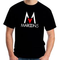 Camiseta Maroon5 - Pop Rock - Masculina 100% Algodão