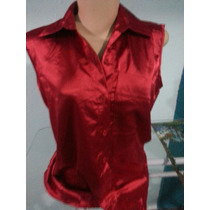 Camisa Cetim Vermelha