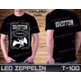 Led Zeppelin Guns N Roses Beatles Metallica Camiseta Preta