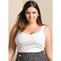 Blusa Regata Plus Size Feminina ( Roupa Gordinha ) Branco