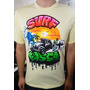 Camiseta Surf Pintada À Mão (exclusiva)