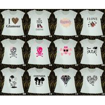 Combos De 10 T-shirts Em Malha Flamê Trend