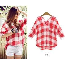 Blusa/ Camisa Xadrez / Casaco Design Diferenciado