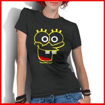 Camiseta Personalizada Feminina Bob Esponja Desenhos