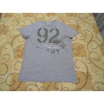 Camiseta Abercrombie & Fitch Tamanho G Cinza Semi Novo