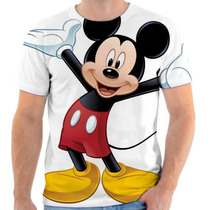 Camiseta Mickey Estampada, Masculina E Feminina