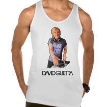 Camiseta Regata Adulto David Guetta Dj Eletronico Trance 5