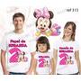 Lembrança De Aniversario Minnie Baby Camiseta Kit Com 3