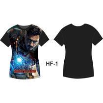 Camisa Camiseta Homem De Ferro Avengers Tony Stark
