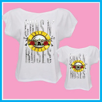 Blusas Femininas Tal Mãe Tal Filha, Guns N Roses, Camisetas
