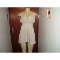 Blusa Em Malha Lindo Design - Cor Areia - Frete R$ 6,00