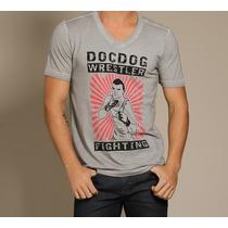 Camiseta Doc Dog Cavalera Colcci Hollister Tamanho G
