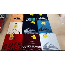 Kit 5 Camisetas Original Quiksilver Hurley Billabong Rip
