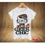 Camiseta Babylook Feminina Hello Kitty Geek Nerd Programador
