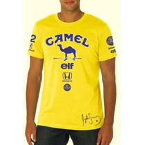 Camisa F1 Lotus Camel Ayrton Senna Anos 80 - Fórmula 1