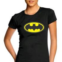 Camiseta Feminina Baby Look Batman 100% Algodão