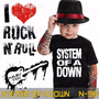 Camisetas System Of A Down Infantil Preta Rock Roll
