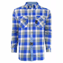 Camisa Camiseta Blusa Moletom Flanela Azul - Blunt Originale