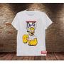 Camiseta Masculina Sátira Popeye Homer Simpson Cerveja Duff