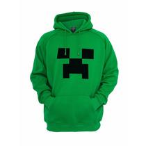 Blusa De Moletom Com Capuz Canguru Minecraft Creeper