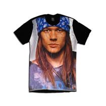 Camiseta Personalizada Swag Face Rosto Axl Rose Guns N Roses