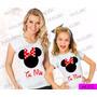 Tal Mãe Tal Filha Baby Look Minnie Kit Com 2 Un Frete Gratis