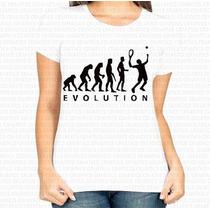 Camiseta Personalizada Feminina Evolução Do Tênis Evolution