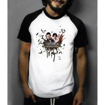 Camiseta Raglan Manga Supernatural Sobrenatural Dean E Sam